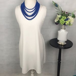 Oh my love London tunic lace straps white sz L